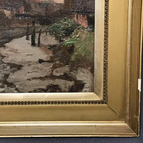 Oil on Canvas Painting of a View of Boston Lincolnshire image-6