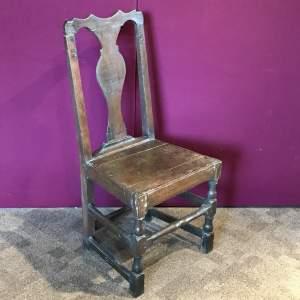 Circa 1700 Queen Anne Oak Side Chair