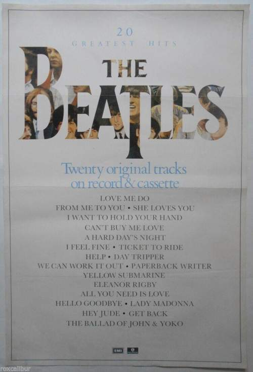 Four of The Beatles Original Record Company Posters image-5