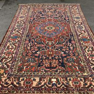 Old Hand Knotted Persian Rug Baktihari
