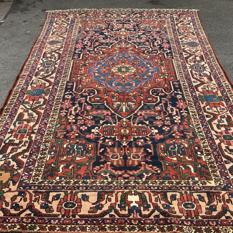 Old Hand Knotted Persian Rug Baktihari