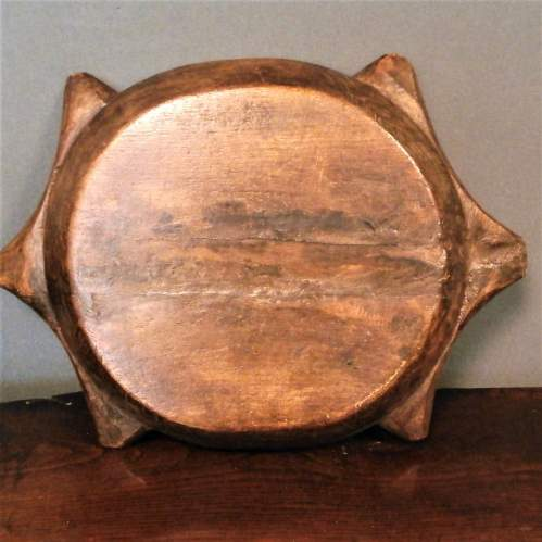 Fine Pacific Hard Wood Rice Bowl Carved in the form of a Turtle image-2