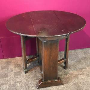 19th Century Oak Drop-leaf Table