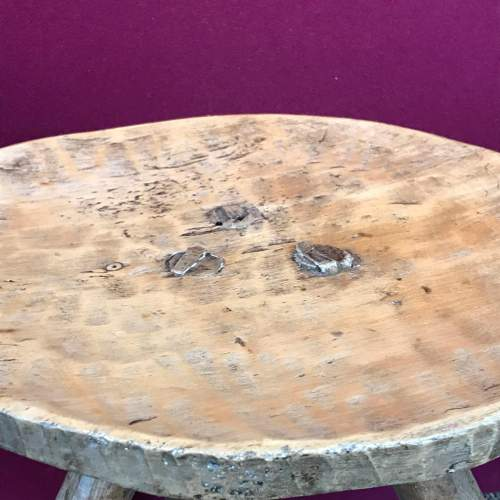 Early 19th Century Sycamore and Ash Stool image-3