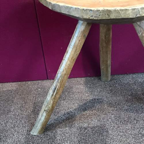 Early 19th Century Sycamore and Ash Stool image-4