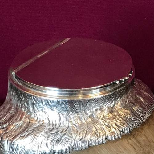 Fine Antique Silver Hoof Inkwell image-2