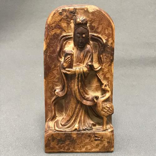 Antique Chinese Carved Soapstone Figure image-1