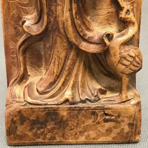 Antique Chinese Carved Soapstone Figure image-3