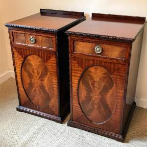 Pair of Late Victorian Solid Mahogany Pedestal Cupboards