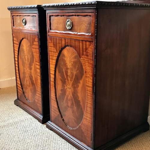 Pair of Late Victorian Solid Mahogany Pedestal Cupboards image-4