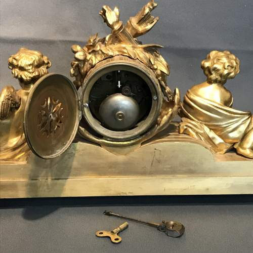 Late 19th Century Ormolu French Clock with Porcelain Panels image-5