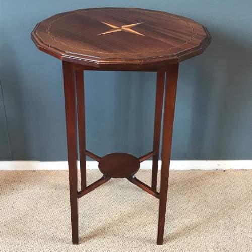 Edwardian Inlaid Mahogany Table image-1