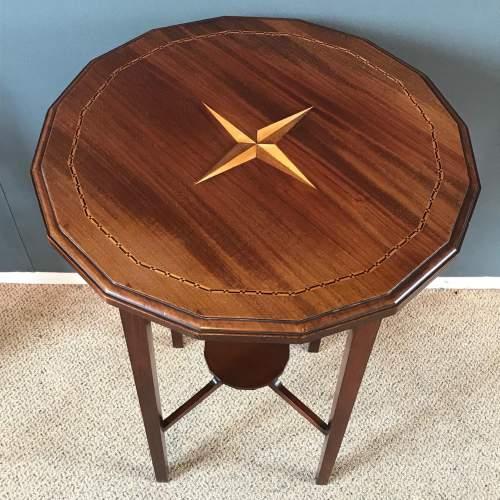 Edwardian Inlaid Mahogany Table image-2