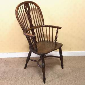 19th Century Yew Wood High Windsor Chair