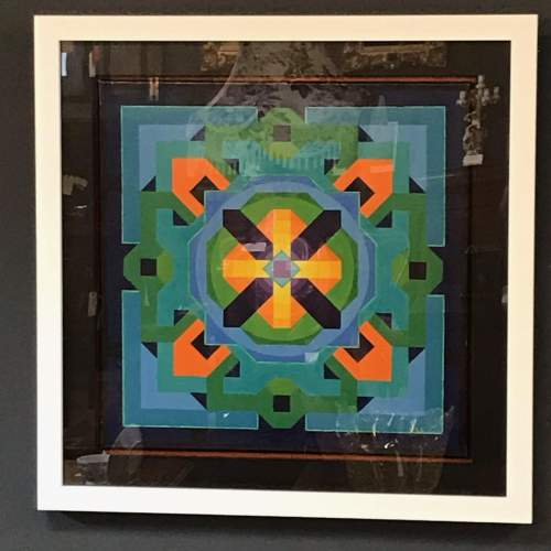 Geometric Oil on Canvas by Louise Loeber image-1