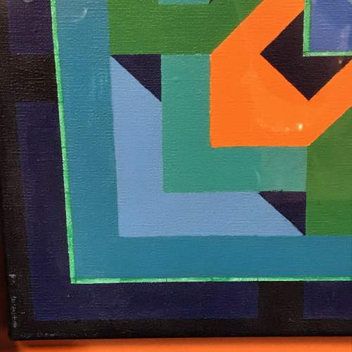 Geometric Oil on Canvas by Louise Loeber image-3