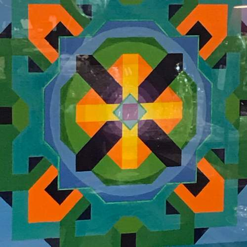 Geometric Oil on Canvas by Louise Loeber image-2