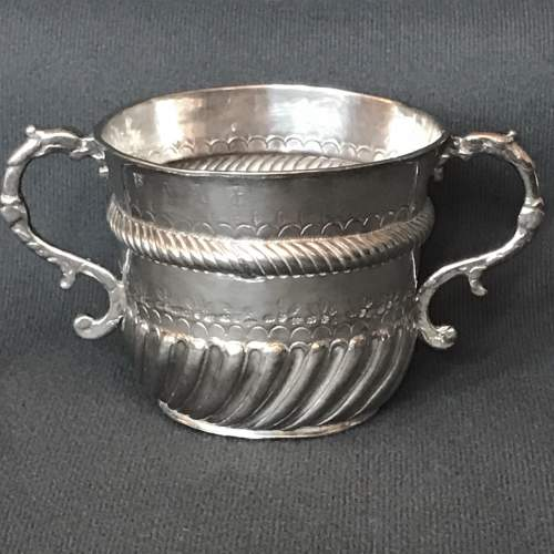 17th Century Small Silver Porringer image-1