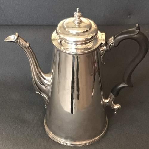 Edwardian Silver Coffee Pot image-1
