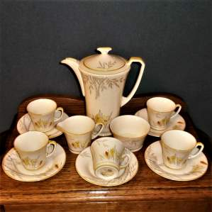 Stylish 1930s Art Deco Crown Devon Fielding Coffee Set