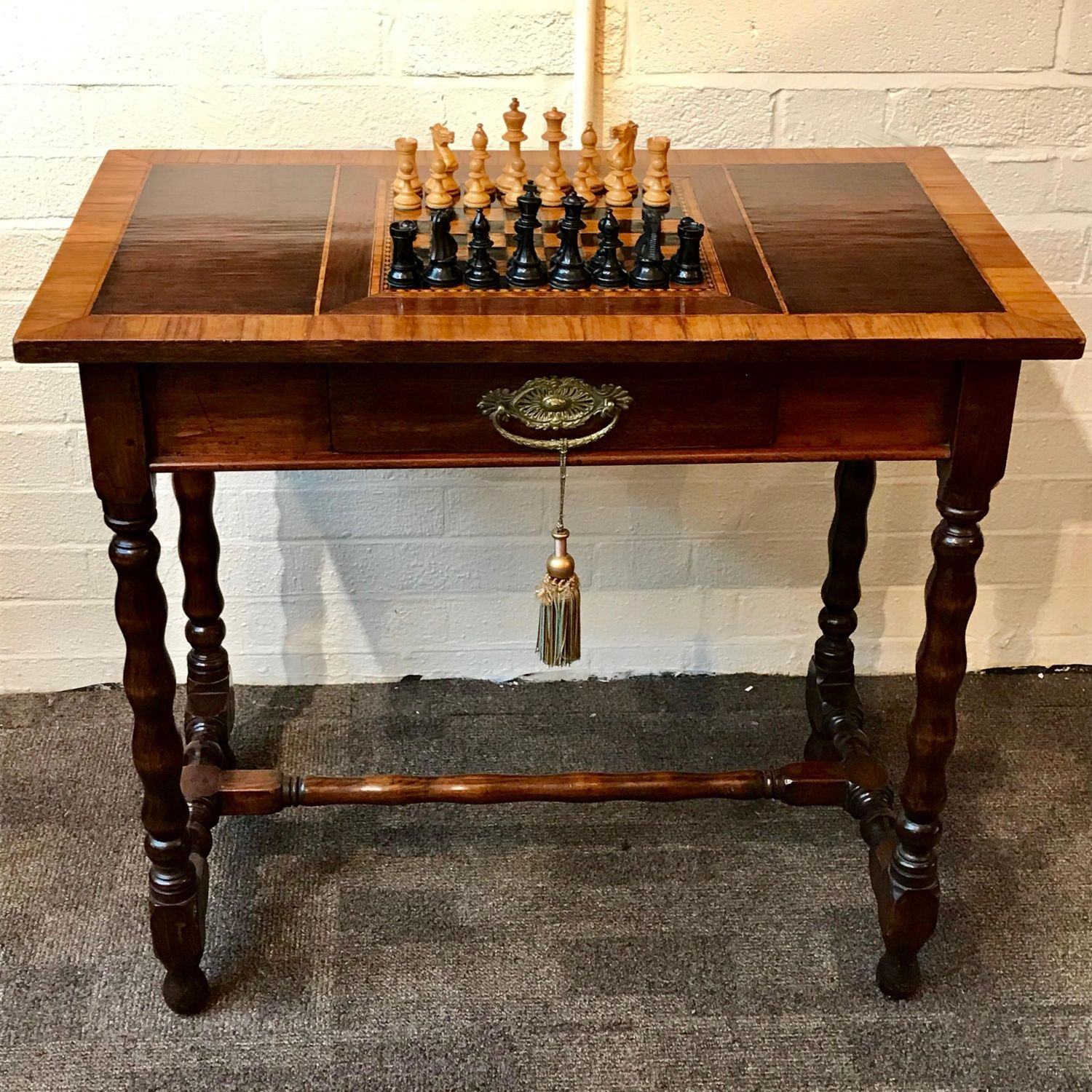 19th Century Chess Table With Satinwood