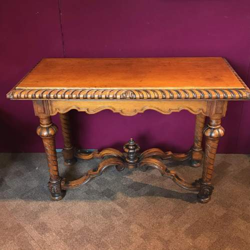 Victorian Carved Oak Centre Table image-1