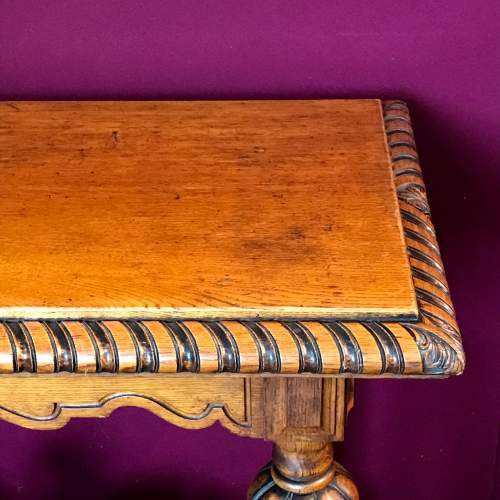 Victorian Carved Oak Centre Table image-2