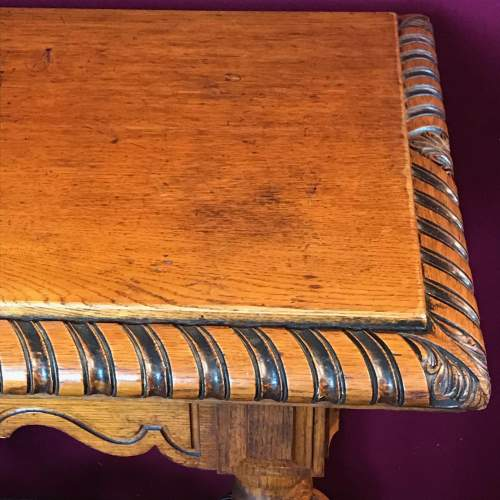 Victorian Carved Oak Centre Table image-5