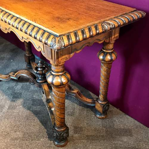 Victorian Carved Oak Centre Table image-6