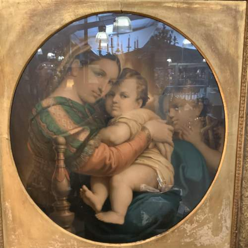 19th Century Print of Madonna And Child image-6