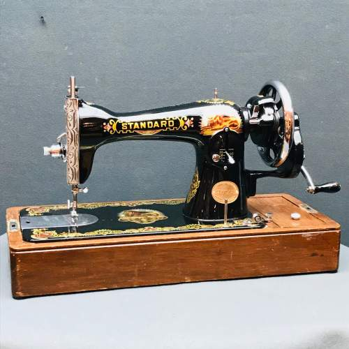 Vintage Standard Sewing Machine with Case image-1