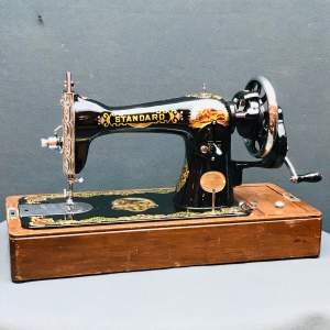 Vintage Standard Sewing Machine with Case