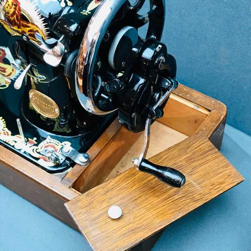 Vintage Standard Sewing Machine with Case image-3