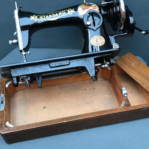 Vintage Standard Sewing Machine with Case image-4