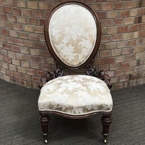 Victorian Walnut Framed Nursing Chair image-4