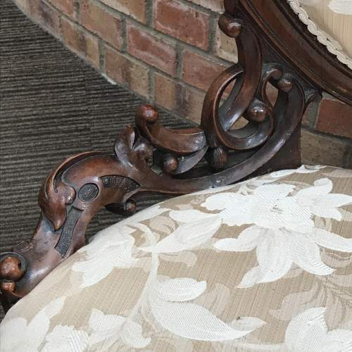 Victorian Walnut Framed Nursing Chair image-2