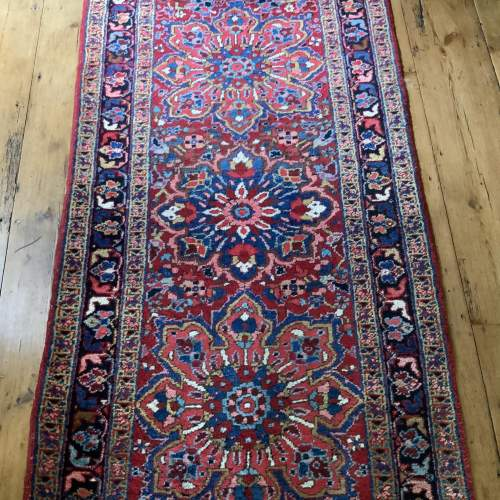 Superb Old Hand Knotted Persian Runner image-1