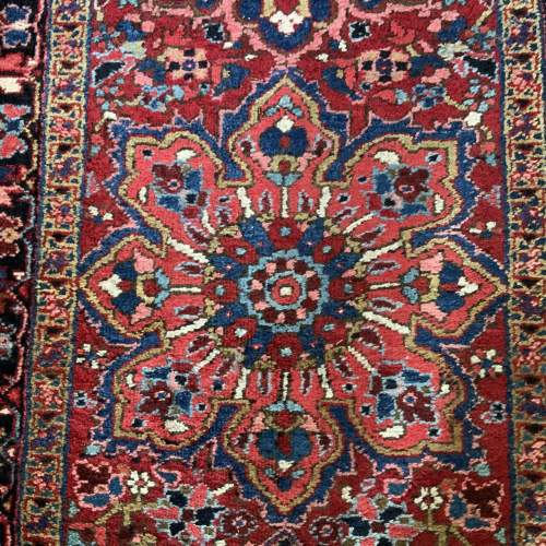 Superb Old Hand Knotted Persian Runner image-3