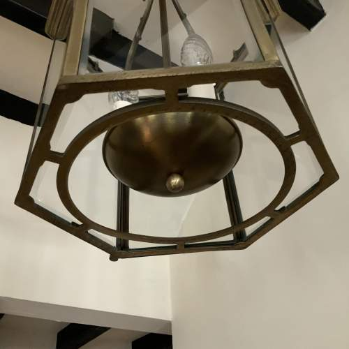 Six Sided Brass Lantern with Unusual Side Opening image-2