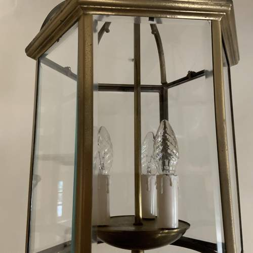 Six Sided Brass Lantern with Unusual Side Opening image-4