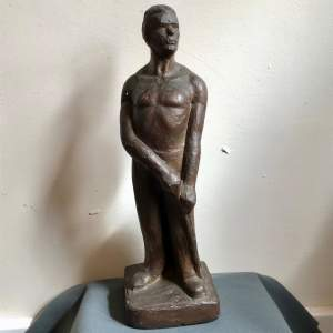 Soviet Era Plaster Maquette of a Working Man