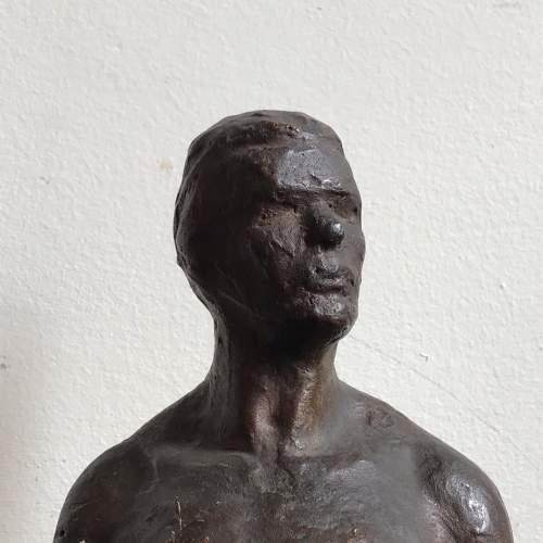 Soviet Era Plaster Maquette of a Working Man image-2
