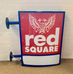 Red Square Vodka Advertising Sign