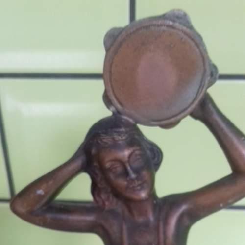 French Art Deco Spelter Figurine La Musique image-2