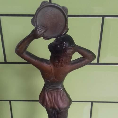 French Art Deco Spelter Figurine La Musique image-3