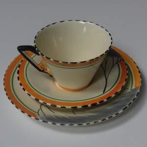 Art Deco Burleigh Ware Zenith Dawn Design Trio