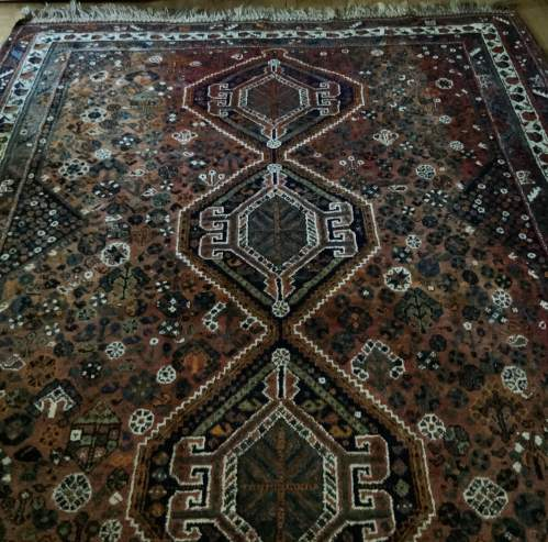Old Hand Knotted Persian Shiraz Wonderful Shadings A Lovely Piece image-1