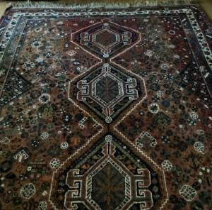 Old Hand Knotted Persian Shiraz Wonderful Shadings A Lovely Piece