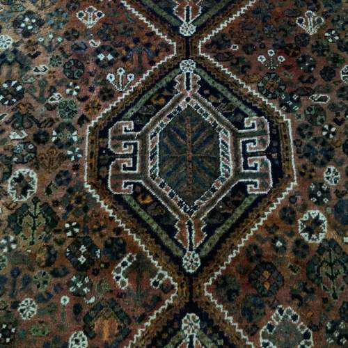Old Hand Knotted Persian Shiraz Wonderful Shadings A Lovely Piece image-2