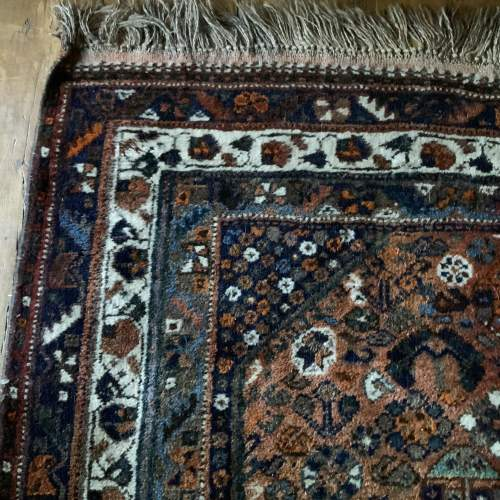 Old Hand Knotted Persian Shiraz Wonderful Shadings A Lovely Piece image-3